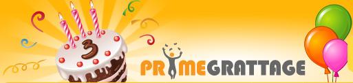 Fêtez l'anniversaire de Prime Grattage !